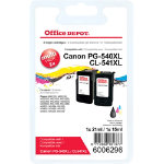 Office Depot Compatible Canon PG 540XL CL 541XL Ink Cartridge Black  Colour 2 pieces