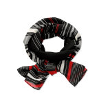 Womens Lightweight scarf Size One size Black striped red
