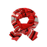 Womens Lightweight scarf Size One size Ruby striped black