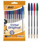 Bic Cristal medium 10mm ballpoint pen assorted pack of 10