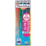 Paper Mate Inkjoy 1978320 Gel Pens 07 mm Black Blue Red Green Pack 4