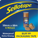 Sellotape Packaging Tape Brown 60 Micron 50 mm x 66 m 6 Rolls
