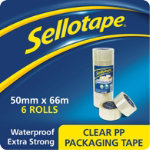 Sellotape 1445171 Packaging Tape Transparent 60 Microns 50 mm x 66 m 6 Rolls