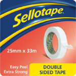 Sellotape Double Sided Tape 25mm x 33m
