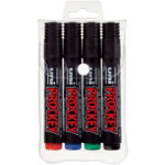 uni PROCKEY Chisel Tip Permanent Markers Assorted Pack of 4