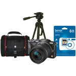 Panasonic DMC GF5KEB K Black Camera Kit 14 42mm Lens inc 8GB SD Bag Tripod
