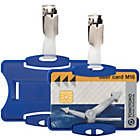 Pack 25 Blue Security ID Holders with Clip