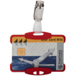 Pack 25 Red Security ID Holders with Clip