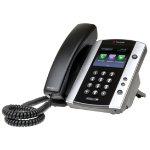 Polycom Corded Telephone VVX 500 Black Silver