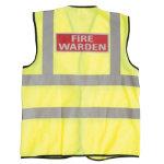 Alexandra Hi vis Fire Warden vest size M