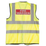 Alexandra Hi vis Fire Warden vest size XXL
