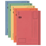 Office Depot square cut foolscap 250 gsm manilla folders assorted pastel colours pack of 100