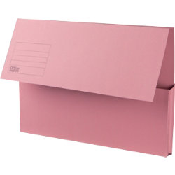 Office Depot Manilla Document Wallets Heavy Weight Manilla 285gsm Foolscap Pink Pack of 50
