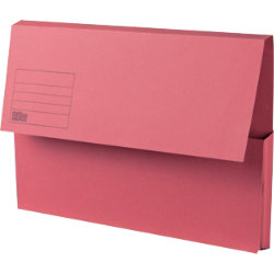Office Depot Manilla Document Wallets Heavy Weight Manilla 285gsm Foolscap Red Pack of 50