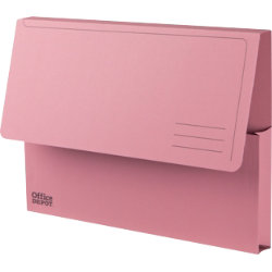 Office Depot Manilla Document Wallets Heavy Weight Manilla 285gsm A4 Pink Pack of 50