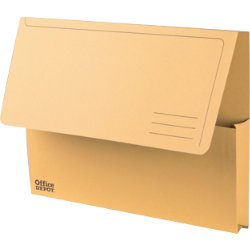 Office Depot Manilla Document Wallets Heavy Weight Manilla 285gsm A4 Yellow Pack of 50