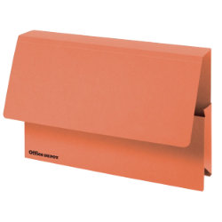 Office Depot Extra Capacity Manilla Document Wallets Heavy Weight Manilla 315gsm Foolscap Orange Pack of 25