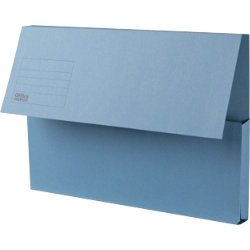Office Depot Extra Capacity Manilla Document Wallets Heavy Weight Manilla 315gsm Foolscap Blue Pack of 25