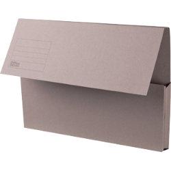 Office Depot Manilla Document Wallets Medium Weight Manilla 250gsm Foolscap Grey Pack of 50