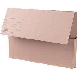 Office Depot Manilla Document Wallets Medium Weight Manilla 250gsm Foolscap Buff Pack of 50