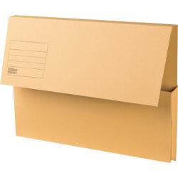 Office Depot Manilla Document Wallets Medium Weight Manilla 250gsm Foolscap Yellow Pack of 50