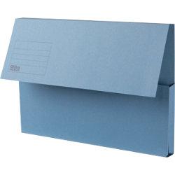 Office Depot Manilla Document Wallets Medium Weight Manilla 250gsm Foolscap Blue Pack of 50
