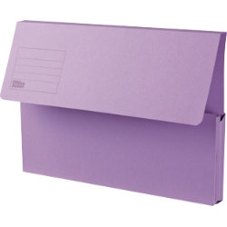 Office Depot Manilla Document Wallets Heavy Weight Manilla 285gsm Foolscap Purple Pack of 50
