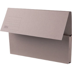 Office Depot Manilla Document Wallets Heavy Weight Manilla 285gsm Foolscap Grey Pack of 50