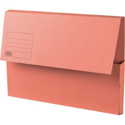 Office Depot Manilla Document Wallets Heavy Weight Manilla 285gsm Foolscap Orange Pack of 50