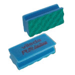 Pack of 10 Vileda PUR Active Foam Backed Scourer Blue