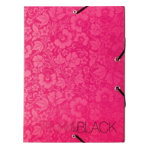 Pink Black Filing Box Pink