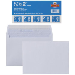 50 Royal Mail 2nd class large letter stamps and 500 C6 envelopes