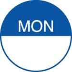 Transworld Products Dot it Food Rotation Label 075 Monday