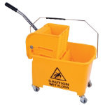 Mop bucket and wringer Yellow
