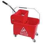 Mop bucket and wringer Red