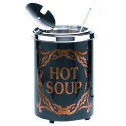 Soupercan Soup Warmer Hot Soup Westminster Black 5.1ltr
