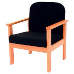 Futura Solid Beech Frame Reception Armchair Black