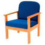 Futura Solid Beech Frame Reception Armchair Blue