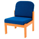 Futura Solid Beech Frame Reception Chair Blue