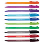 PaperMate Inkjoy 100 Ballpoint pen funbag assorted colours pack 10