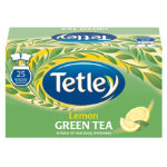 Tetley Lemon Green Tea Pack 25