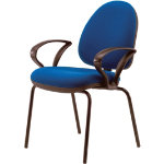 Newham 4 Legged Visitor Chair With Fixed Arms Blue