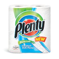 Plenty The Big One 60 Sheet Kitchen Roll 2 Pack