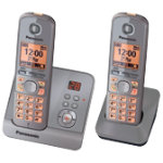 Panasonic KX TG6722 Twin DECT phones with Answer Machine