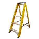 Lyte Ladders Heavy Duty Glassfibre Swingback Stepladder 4 Tread