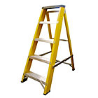 Lyte Ladders Heavy Duty Glassfibre Swingback Stepladder 4 Tread