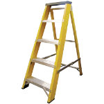 Lyte Ladders Heavy Duty Glassfibre Swingback Stepladder 6 Tread