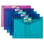 Snopake Document Wallets 14734 A4 Assorted Polypropylene 24 x 335 cm