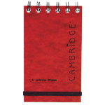 Cambridge Red 76X127mm Wirebound Ruled Notepad Pack of 10
