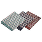 Genware Mini Check Lightweight T Towel 10pcs Assorted Colours